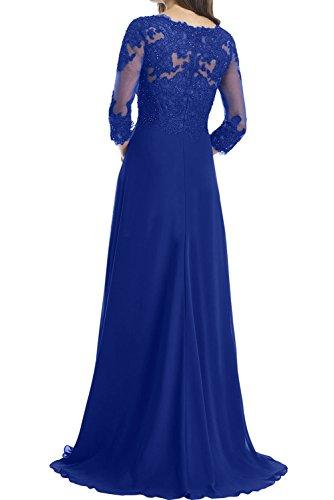 V Damen Mutterkleid Blau Promkleider Mit Spitze Aermeln Ausschnitt Ivydressing Abendkleider 7HxqPq1