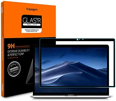 Spigen Tempered Glass Screen Protector Designed for MacBook Air 13 inch (2020) (Late 2018-Current) / MacBook Pro 13 inch (Late 2017-Current) [9H Hardness]