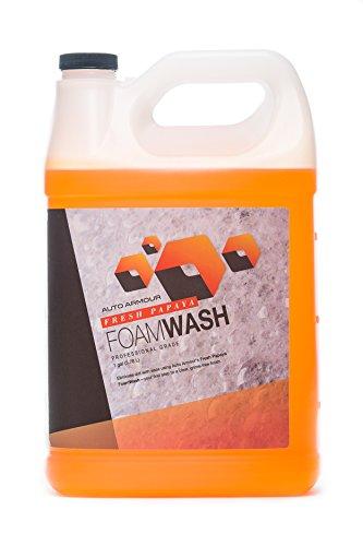 Armour Car Care Foam Wash – PH Neutral Car Wash Soap & Wax, Fresh Papaya, 1 Gallon