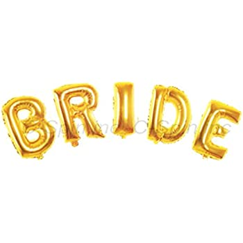 Amazoncom c spin 16 inch bride gold foil letter balloon for Foil letter balloons amazon