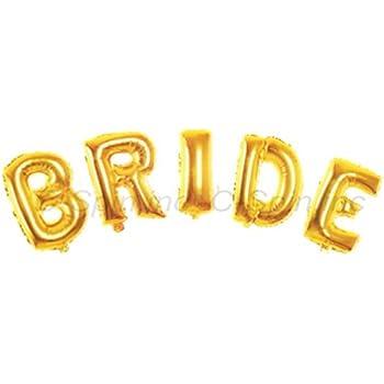 Amazoncom c spin 16 inch bride gold foil letter balloon for Foil letter balloons amazon