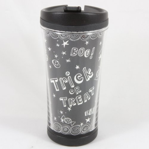 Starbucks 2007 Black Halloween Trick or Treat, Travel Tumbler 8 oz.