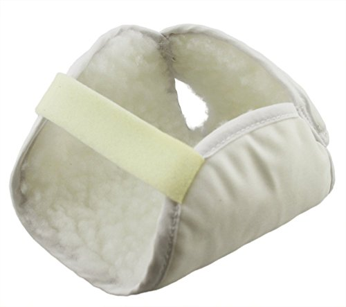 - ObboMed MB-6910 Synthetic Sheepskin Fleece Padded Heel Protector with Hook and Loop Closure for Secure and Tight Fit