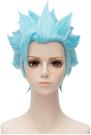 Kadiya Short Blue Cosplay Wig Heat Resistant Full Synthetic Hair