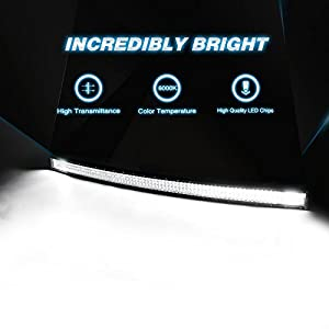 LED Light Bar Nilight 52Inch 783W Curved Triple Row Flood Spot Combo Beam Led Bar 78000LM Driving Lights Boat Lights Led Off Road Lights for Trucks,2 Years Warranty