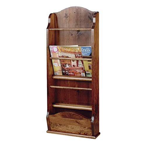 Magazine Rack Antique Pine Wall Rack 40''H | Renovator's Supply by Renovator's Supply