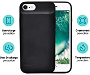 iPhone 8 7 6s 6 Battery Case 5600mAh by FinchTech - Smart Phone Charger - Portable Charging Case - Best Power Bank Alternative!