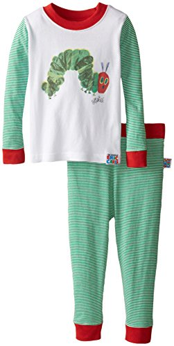Intimo Little Boys' Toddler Eric Carle Caterpillar Pajamas,
