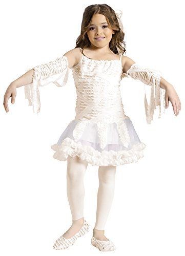 Girls Egyptian Tutu Mummy Kids Child Fancy Dress Party Halloween Costume, S (4-6) (Girls Tutu Mummy Costumes)