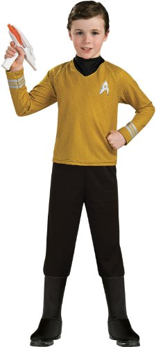 Star Trek into Darkness Deluxe Captain Kirk Costume, (Star Trek Costume Boots)