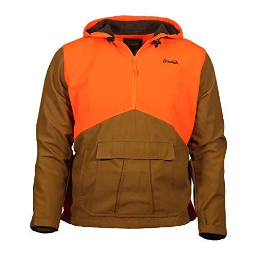 Gamehide Upland Field Hunting Hoodie (Marsh Brown/Orange, X-Large)