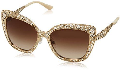 Dolce & Gabbana Women's Metal Woman Square Sunglasses, Gold, 56 - Dolce Gabbana Sunglasses Flower Gold And