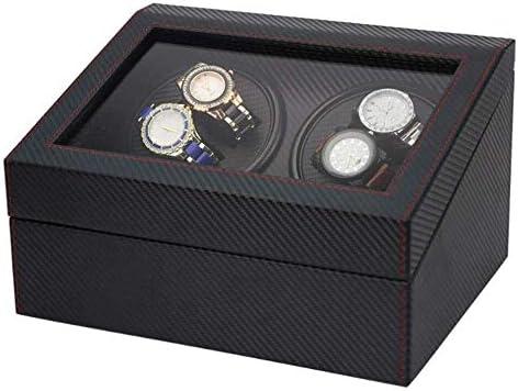 上げ機 自動機械式ウォッチワインダーボックス自動ウォッチワインダー4 + 6レザーストレージの表示ボックスワインダー 腕時計ワインディングマシーン
