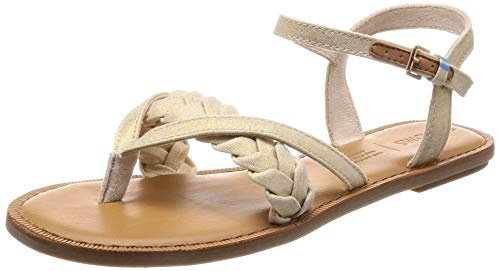 TOMS Women's Lexie Natural Shimmer Canvas 6 B ()
