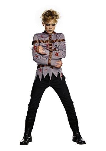 Dream Girl Boy's 9939 1 PC Gone Mental Costumes,DUSTY GREY,L
