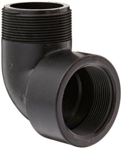Banjo SL200-90 Polypropylene Pipe Fitting, 90 Degree Street Elbow, Schedule 80, 2 NPT Female x NPT Male