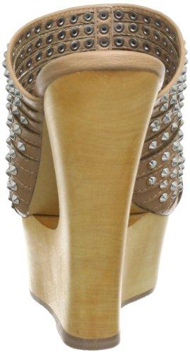 Steve Madden LUCCIOUS 01410034 - Plataformas de cuero para mujer Beige (Beige (Natural 41))