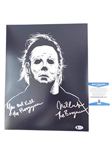 Nick Castle signed 11x14 Photo Halloween You Can't Kill The Boogeyman -