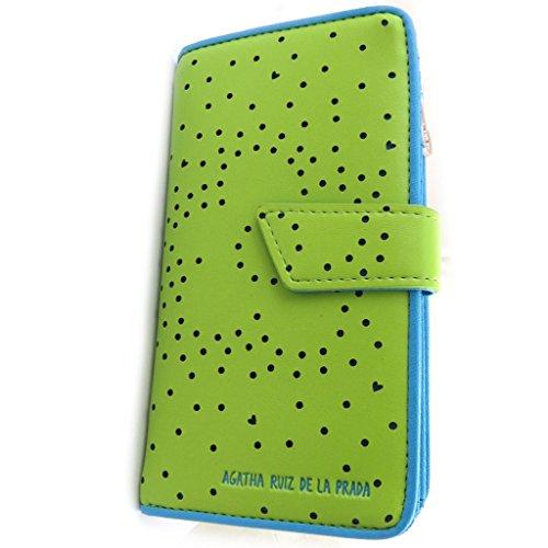 Wallet 'Agatha Ruiz De La Prada'apple green - perforated hearts (l).