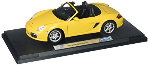Welly Collection 1:18 Porsche Boxster S Convertible  Diecast Model Car - Yellow