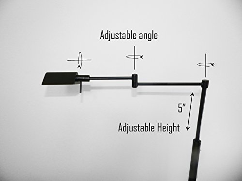 31188F-BK 43.5''H LED floor lamp with adjustable arm and height,Black, oil rubbed bronze by SH Lighting