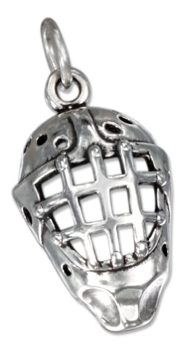 Sterling Silver Hockey Goalie Mask Charm