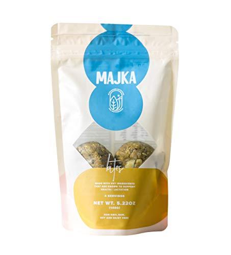 Majka Lactation Bites for Nursing Moms – Vegetarian Whole Food Snack for Postpartum Recovery (4 Bites Per Bag) (3 Bags)