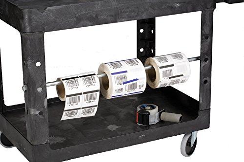 Rubbermaid FG452088BLA Commercial Heavy-Duty 2 Shelf Utility Cart, Lipped Shelves, Medium, Black, 500 Pound Capacity by Rubbermaid Commercial Products (Image #8)