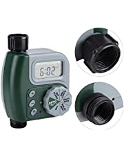 Sangmei Irrigation Water Timer Controller Garden Electronic Programmable Automatic Watering Timer Waterproof Water Faucet To Hose Timer with LCD Display for Outdoor Parterre