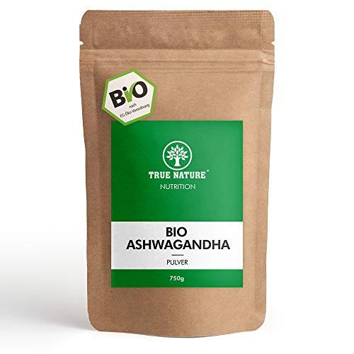 EINFÜHRUNGSANGEBOT - TRUE NATURE® (750g) Premium BIO Ashwagandha Wurzel Pulver - 100% REINE Indische Withania Somnifera - Mehrfach Laborzertifiziert