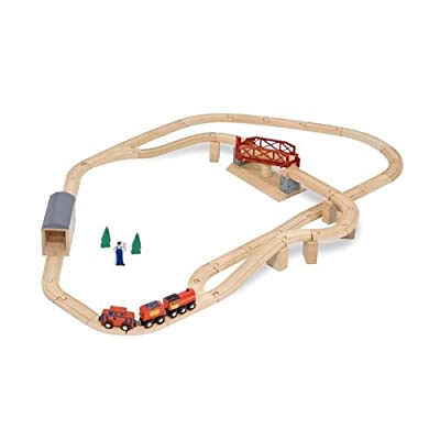 Melissa Doug Swivel Bridge Train Set from Melissa & Doug