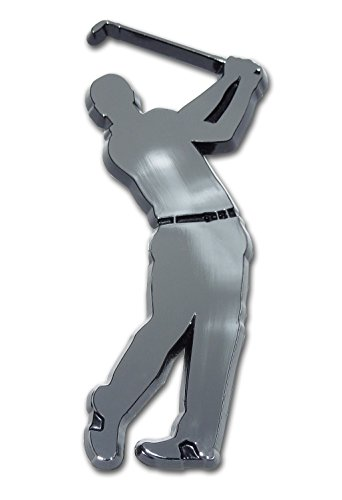 Golfer Swing Chrome Auto -