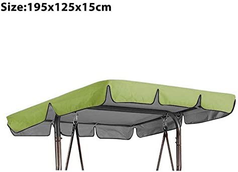 Souarts Ersatzdach Gartenschaukel Schaukel Sonnendach Hollywoodschaukel Dachplane Universal f/ür 2//3 Sitzer 210D Wasserdicht Silberbeschichtet Oxford-Tuch