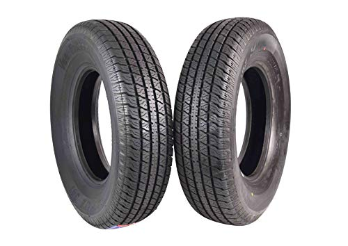 ST 225/75R15 Trailer Tire Traimate Load Range D 8 Ply Radial 225/75-15 2 Pack Tire 2257515 225 75 15 (2)