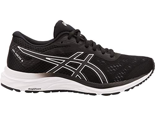 ASICS Women's Gel-Excite 6 Running Shoes, 8.5M, Black/White