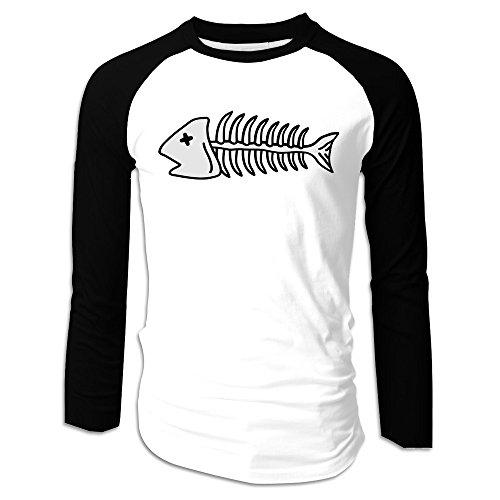 Death Fish Comfy Cotton Men Raglan T Shirts