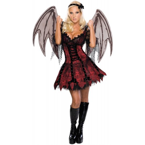 Secret Wishes Sexy Vampire Fairy Costume, Red, Large