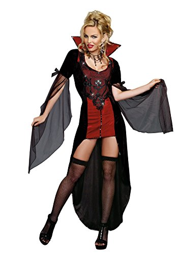 [Dreamgirl Women's Killing Me Softly, Black, Medium] (Adult Vampire Halloween Costumes)