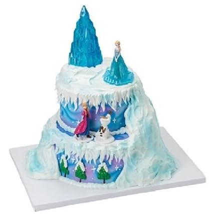 Amazon Com Cakedrake Frozen Winter Magic Ice Castle Elsa Olaf Anna