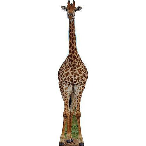 - Jungle Safari Giraffe Standee Standup Photo Booth Prop Background Backdrop Party Decoration Decor Scene Setter Cardboard Cutout