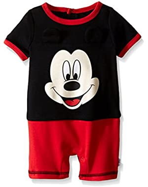 Baby Boys' Mickey Mouse Knit Romper with 3D Ears