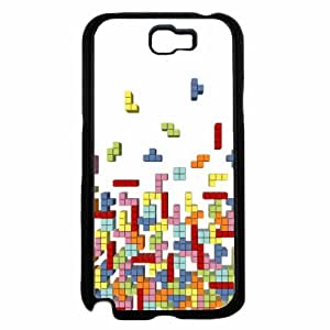 Vintage Block Game - TPU RUBBER SILICONE Phone Case Back Cover Samsung Galaxy Note II 2 N7100