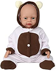 Vollence 18 inch Reborn Full Silicone Baby Doll, Not Vinyl Material Dolls, Real Full Body Silicone Baby Dolls, Realistic Baby Dolls That Look Real, Handmade Lifelike Silicone Baby Doll Girl