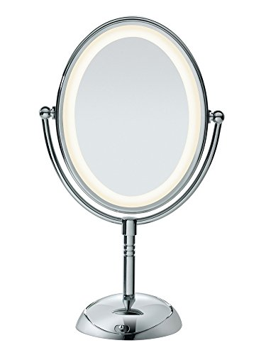 Conair Double-Sided Lighted Makeup Mirror - Lighted Vanity Makeup Mirror with LED - Mirrors Bathroom Led Narrow