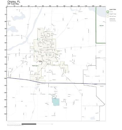 Chipley Florida Map.Amazon Com Zip Code Wall Map Of Chipley Fl Zip Code Map Not