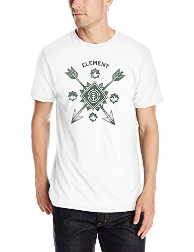 Element Arrow (Element Men's Arrowhead Short Sleeve T-Shirt, White Heather, X-Large)