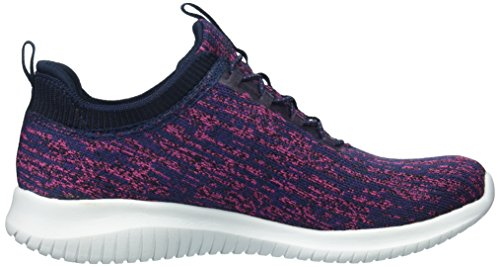 Sport Pink Bright Women's Ultra Mujer Flex Top Horizon Skechers Low Navy Rdwqvnd
