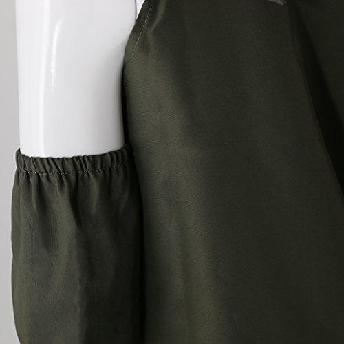 MagiDeal Verano Frío Hombro T-shirt Mini Vestido Túnica Tops para Mujeres Ropa de Moda Verde
