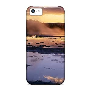 Shock-dirt Proof Sunset At The Great Fountain Geyser In Yellowstone Case Cover For Iphone 5c