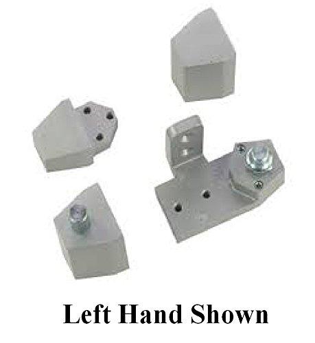 Arch / Vistawall Style Aluminum Storefront Door Pivot Hinge Set - Choose Handing & Finish (Left Hand in Aluminum) (Left Hand Door Hinge)